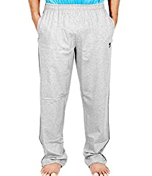 Scorpion Men's Cotton Track Pants (G0405XL_Grey melange_X-Large)
