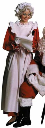 Mrs Santa Dress Apron & Mop Hat Outfit 0105