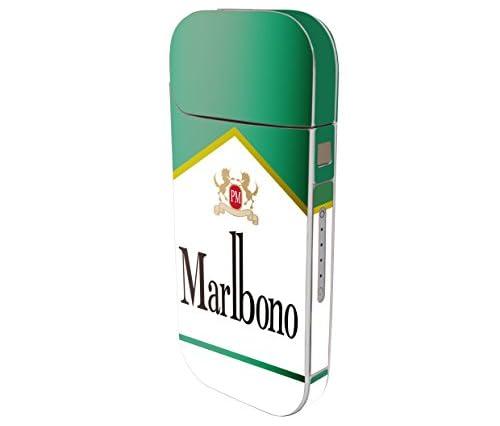 iQOS Seal アイコス専用スキンシール【パロディシガー(Marlbono Menthol)】表・裏・側面・中 全面対応 カバー ケース 保護 フィルム ステッカー デコ アクセサリー 電子たばこ タバコ 煙草 喫煙具 デザイン おしゃれ アイコスシール iQOSシール
