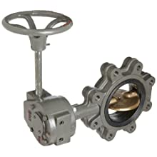 Milwaukee Valve CL323E Series Cast Iron Butterfly Valve, Lug Style, Aluminum/Bronze Disc, EPDM Seat, Gear Operator, Flanged