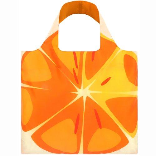 (ローキー)LOQI 折りたたみ エコバッグ ECO BAGS ポーチ付き 大サイズ FRUTTI Orange 【FRUTTI-b】