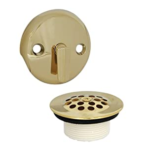 danco 89243 trip lever tub drain and overflow trim kit polished brass