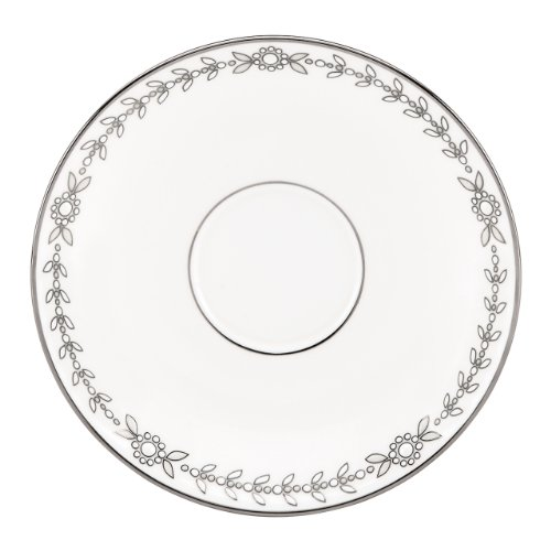 Lenox Marchesa Couture Tea Saucer, Empire Pearl