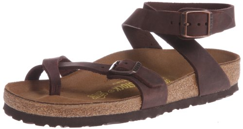 Birkenstock Yara Natural Leather, Style-No. 13391, Women Thong Sandals, Habana, EU 40, normal width