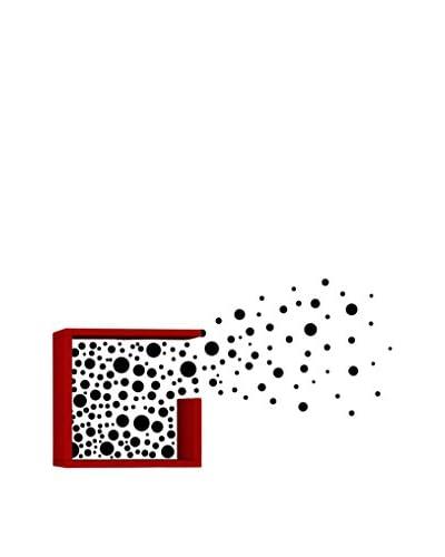 Mat Maison Wandplank Bubbles rood