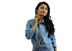 D-Nimes Full Sleeve Light denim shirt