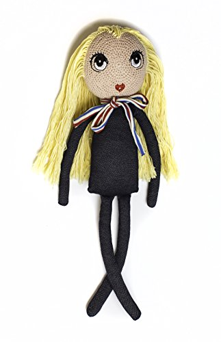 "Antebies Handcrafted Organic Cotton, Crochet Dolls in Backpack, Long hair to play and make braids, ponies, creative doll, Share a Heart Share a Smile, A new member in your home bring ""Joy and Hope""."
