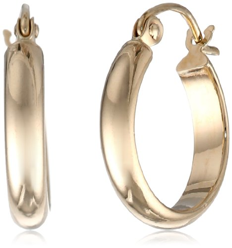 14k Yellow Gold 2.8mm Hoop Earrings
