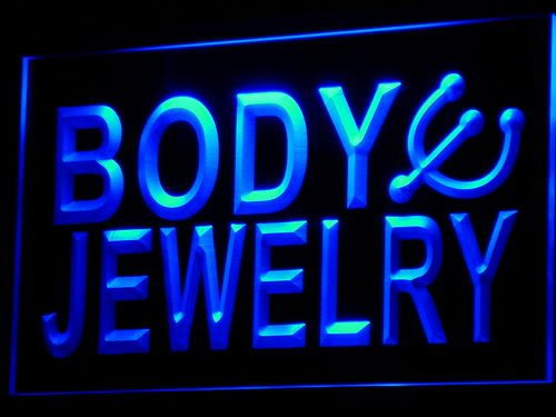Adv Pro I540-B Body Jewelry Piercing Shop Bar Neon Light Sign