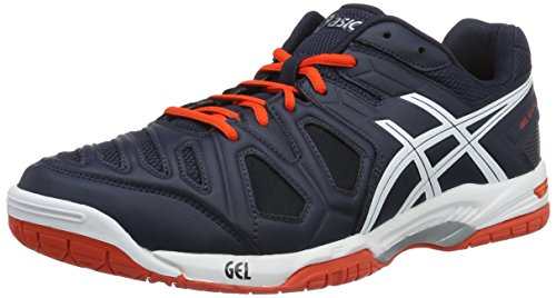 Asics Gel-Game 5 Scarpe, Tennis, Uomo, Multicolore (Sky Captain/White/Orange), 42.5 EU