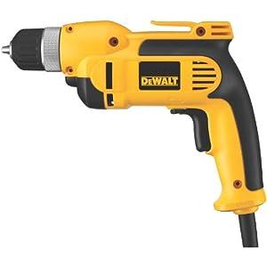 DEWALT DWD110K 8.0 Amp 3/8-Inch VSR Pistol Grip Drill Kit with Keyless Chuck
