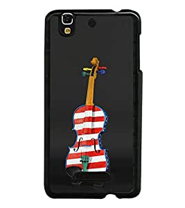 Painted Violine Back Case Cover for YU YUREKA