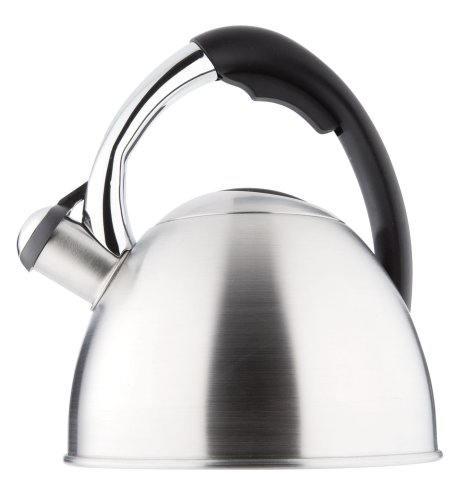 Copco Eclipse 2.0 Quart Teakettle, Brushed Stainless Steel