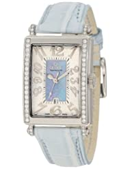 Inexpensive!! Gevril Women's 7247NE Mini Quartz Avenue of Americas Blue Diamond Watch Deals