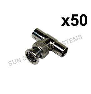 BNC T Piece Junction Connector 1 Male to 2 Female x50