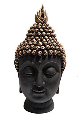 HEERAN ART Polyresin Buddha Head Figurine (10.5 cm x 7 cm x 13 cm, GLB