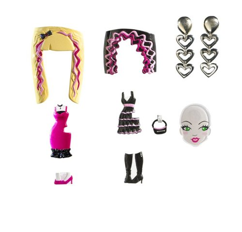 Barbie Girls Glam Gowns Pack - Pink and Black