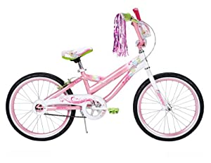 Huffy Girl's Coastal Bike, Stardust White/Glitter Pink, 20-Inch