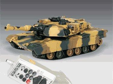 New M1A2 ABRAMS Iraq War Tank RC US Battle Tank Radio