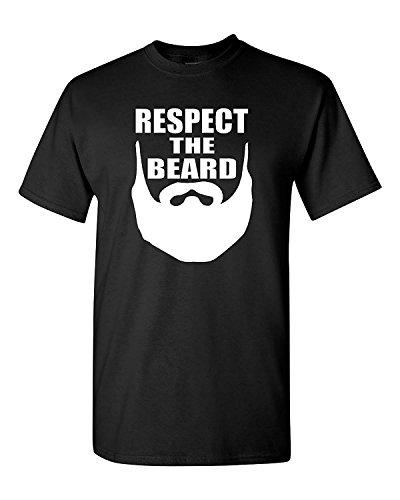 Short Sleeve Respect The Beard Men T-Shirt Tee