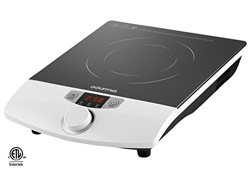 Gourmia GIC-100 Multifunction Portable 1800W Induction Cooker Cooktop Countertop Burner with SmartSense Auto Detection, Timer, Temperature and 8 Power Level Controls, White (1800 Watt Induction Cooktop compare prices)