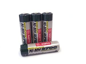 Sanyo 2,700 mAh AA NiMH Rechargeable Batteries-4-Pack (Discontinued by Manufacturer)