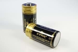 【2本セット】 XTAR CR123A 3V 大容量!1400mAh カメラ用