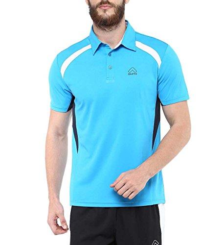 Aurro-Sports-Turquoise-Training-Polo-T-Shirt-Size-M