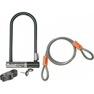 kryptonite kryptolok series2 u lock cable bike u locks sports outdoors. Black Bedroom Furniture Sets. Home Design Ideas