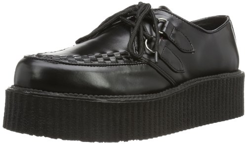 Demonia - V-CREEPER-502, Scarpe stringate Uomo, Nero (Blk Vegan Leather), 41