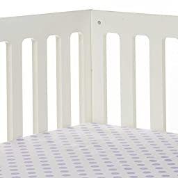 Glenna Jean Fiona Large Dot Fitted Crib Sheet in White/Purple