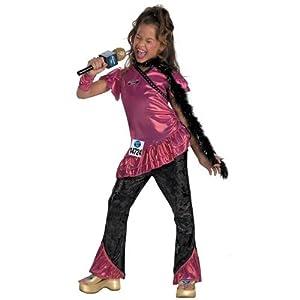 Amazon.com: American Idol Pop Star Singer Deluxe Child Girl Costume (4