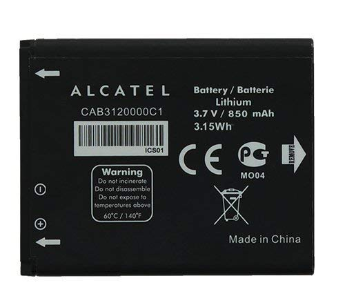 Alcatel 510A Standard Battery CAB3120000C1 (Color: Black)