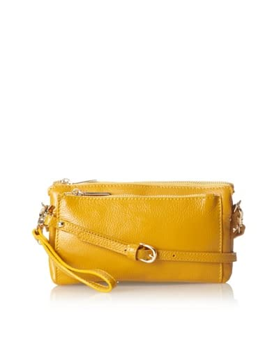Zenith Women's Convertible Cross-Body Clutch, Mustard