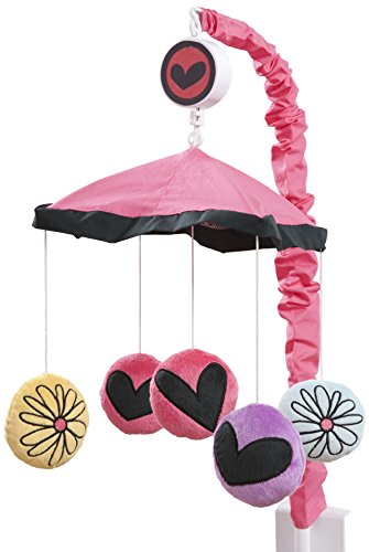 One Grace Place Sassy Shaylee Mobile, Black, Pink, and Purple - 1