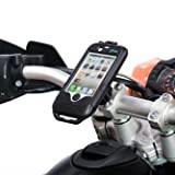 Motorcycle M8 Top Clamp Handlebar Bolt Mount with Waterproof Tough Case for Apple iPhone 4
