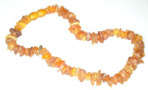 RAW Amber teething necklace. BABY HEALING Amber Necklace. Authentic Baltic Amber Baby Teething Necklace. 12 gram of UNTREATED / unheated amber beads - 1