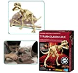 Play at being a top paleontologist by excavating the bones of a dinosaur that roamed the Earth millions of years ago. Then put the pieces together to make the stunning skeleton of a terrifying Tyrannosaurus Rex, the largest and the fiercest carnivore of the prehistoric world. Kit includes a plaster block and a specially designed digging tool to help excavate the skeleton. Provides hours of fun for you as a paleontologist! Recommended for 8 years and older due to small parts.