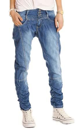n.n. pantalon en jean pour femmes, jean baggy, pantalon bouffant j108p 42/XL