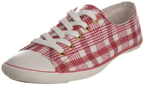 Converse Women's All Star Light Ox Rose/White Plaid Trainer 513761 5.5 UK