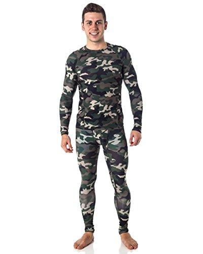 Men's ClimateSmart Compression Base Layer Shirt and Pant Set, Camo M (Camo Shirt And Pants compare prices)