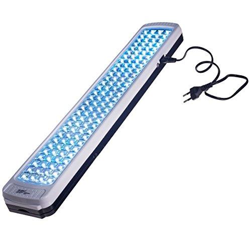 lampe de secours LED 784, détecteur de lumière, rechargeable, 2 pieds pliants