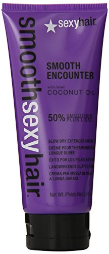 Sexy Hair Smooth Encounter Blow Dry Extender Creme, 3.4 Ounce