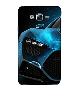 Fuson Premium Back Case Cover Stylish car With Green Background Degined For Samsung Galaxy Grand Neo::Samsung Galaxy Grand Neo i9060