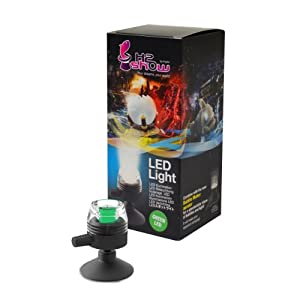 H2Show Green LED - Submersible Spotlight for Aquariums - suction cup mount included