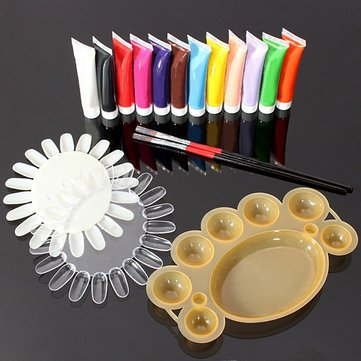 12-Colors-3D-Nail-Art-Acrylic-Paints-Brush-Pallet-Tool-Set