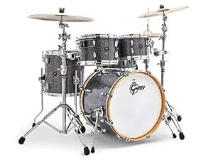 gretsch drums rn1 1414f bm 14 inch drum set floor tom tom blue metal musical. Black Bedroom Furniture Sets. Home Design Ideas