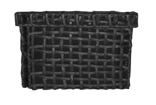 Ar Home Decor Horizontal Wicker Basket For Center Channel Speakers