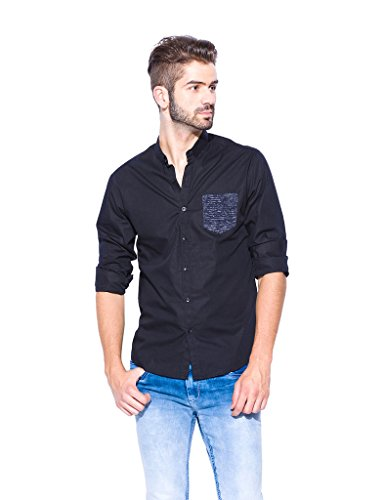 Mufti-Cotton-Shirt-MFS-6441-B-01-BLACK