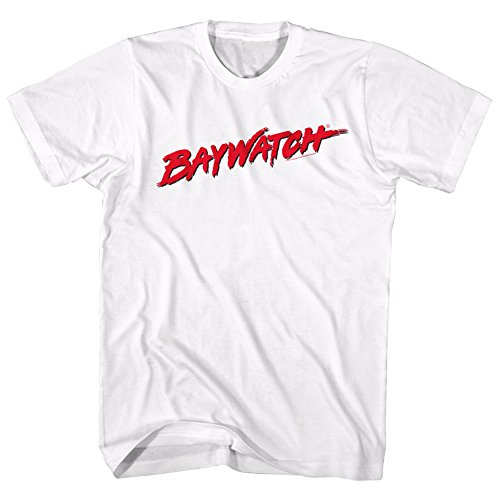 Official Baywatch Logo White T-shirt for Adults - S to XXL
